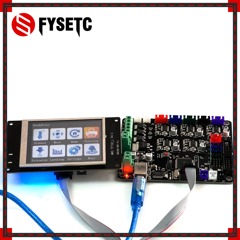 3d printer kit mother board MKS BASE V1.5+ MKS TFT32 V4.0 touch screen all in one controller imprimante Reprap control panel 3d printer kit motherboard mks base mks tft32 touch screen all in one controller starter kits imprimante reprap control panel