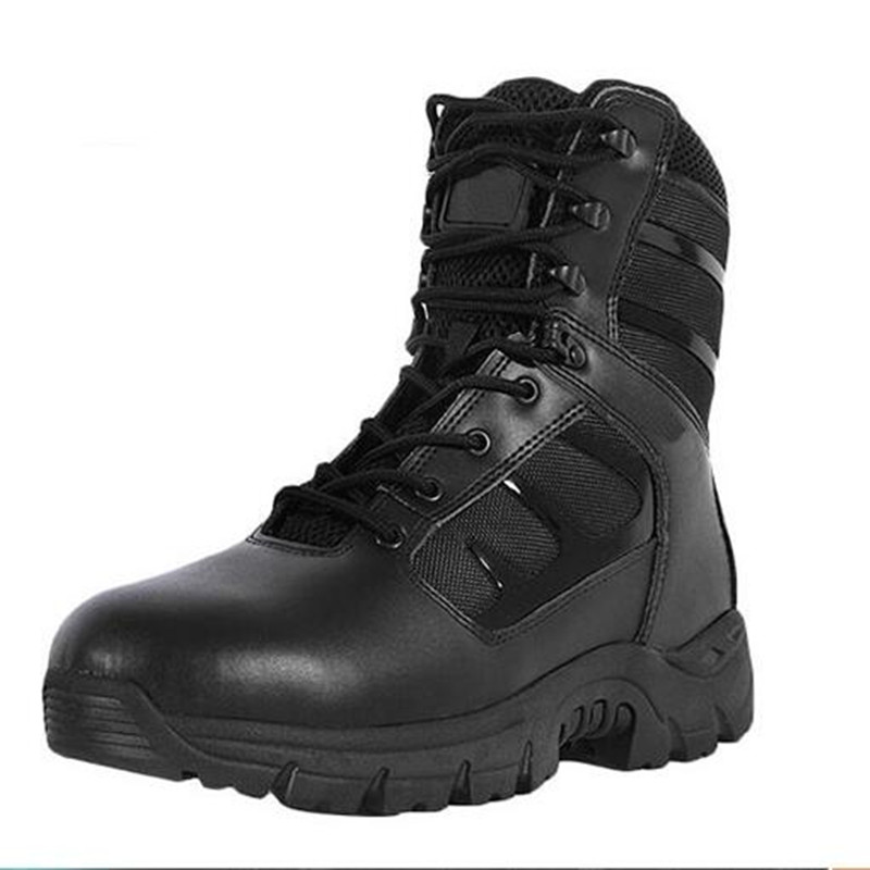 Military Tactical Boots Desert Combat Outdoor Army Hiking Travel Botas Shoes Leather Men Boots