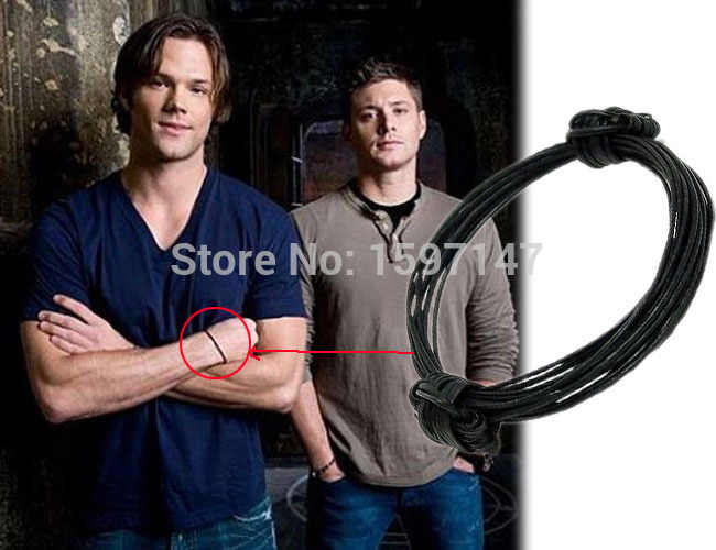 Hot sale Supernatural inspired charm Bracelet TV jewelry dean sam devils protection winchester Deluxe Fandom Souvenir gifts