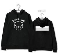 Kpop bigbang gemaakt concert cartoon beer afbeelding afdrukken hoodie voor vips herfst winter plus size bigbang sweatshirt