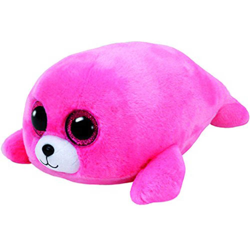 """Pyoopeo Оригинал Ty Boos 10 """"25 см Пьер розовый уплотнитель плюшевые средней мягкости с большими глазами мягкие животные коллекционные игрушки куклы с биркой в виде сердца"""