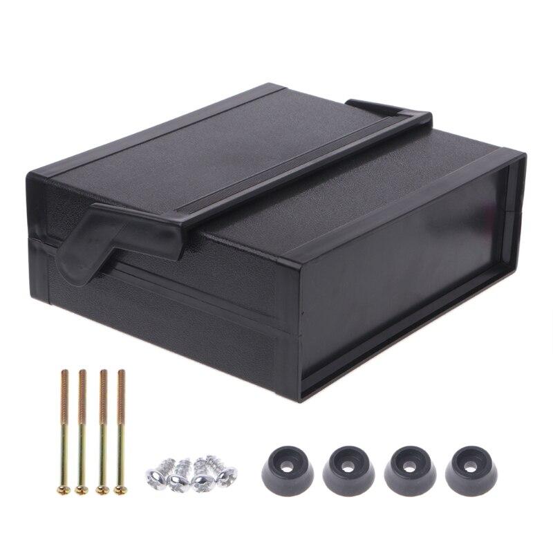 Impermeabile Scatola di Plastica Progetto Recinto Elettronico Nero 200x175x70mm W315
