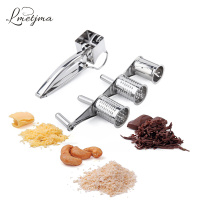 3 Drums Set Kitchen Craft Rotary Cheese Grater Slicer Shreds Stainless Steel Cheese Chocolate Grater Kitchen