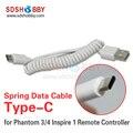 Mando a distancia de tipo c cable de datos para dji phantom 4/pro + 3 inspire primavera usb escalable de datos android cable