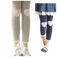 children girls 4-color lace trim ruffle cotton princess skinny leggings kids fashion autumn fall casual legging clothes