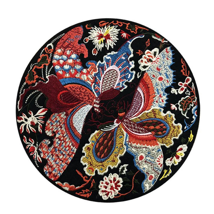 1 Pieces Flowers Butterfly Bird Iron on Patches Embroidered Iron On Patch for Clothes Badge Sewing Fabric Applique DIY Crafts