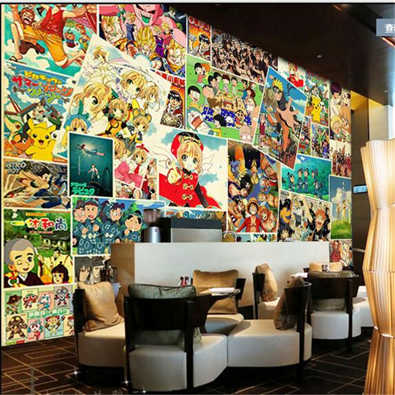 buy beibehang personalized edition collection japanese anime jigsaw mural theme. Black Bedroom Furniture Sets. Home Design Ideas