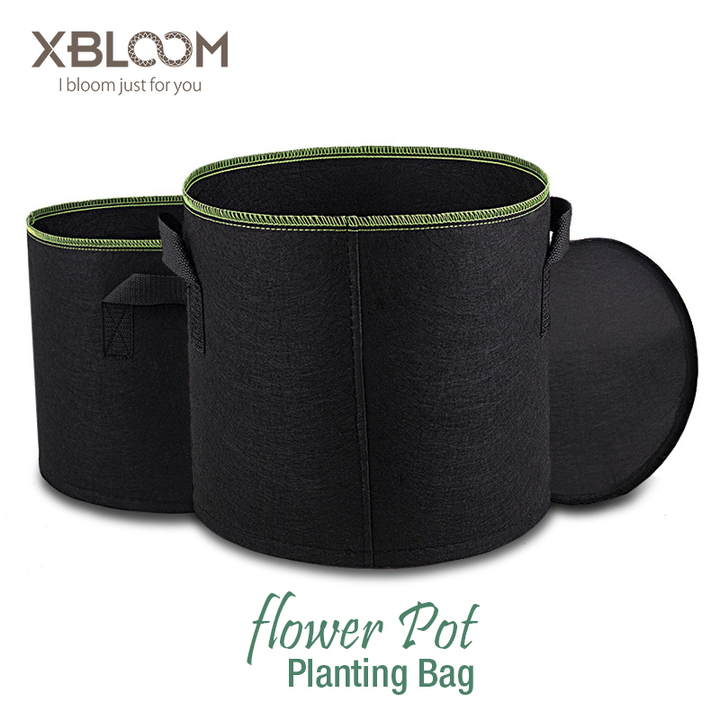 Non Woven Tree Fabric Pots Grow Bag Root Container Plant Pouch Black Hand With Planting Flowers Pot Nonwoven Bags Grows Culture