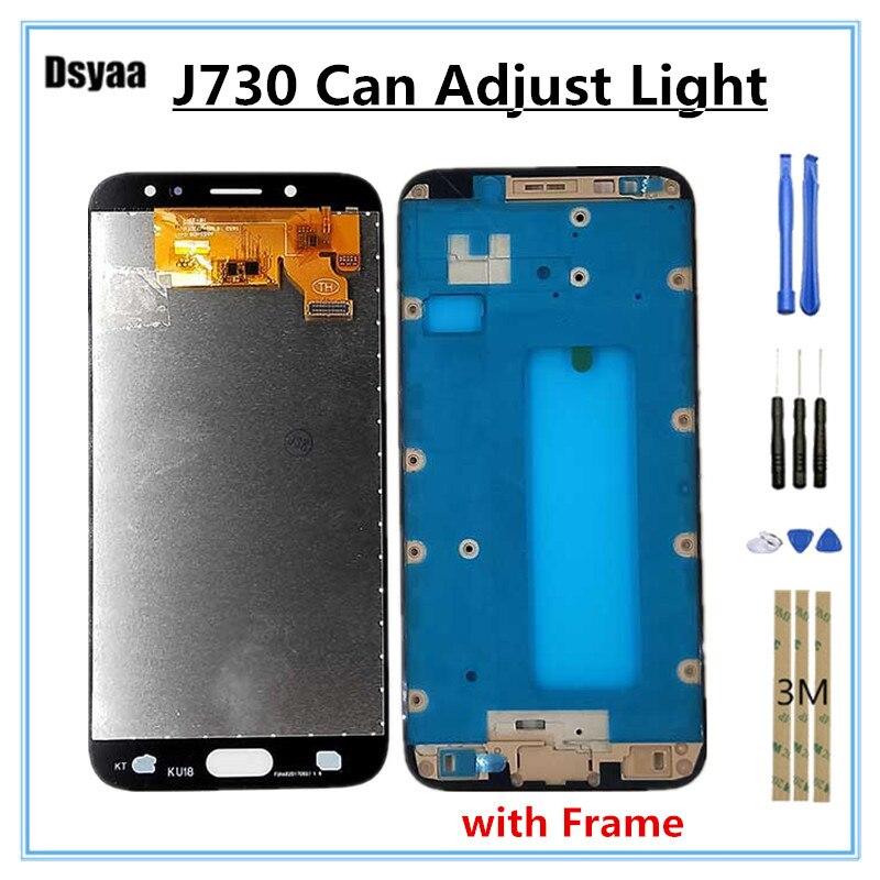 Peut ajuster la luminosité pour Samsung pour Galaxy J7 Pro 2017 J730 J730F LCD avec cadre 5.5 pouces écran tactile numériseur 10 PCS/Lot