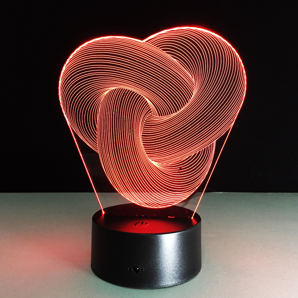 Abstract Acrylic Light LED 3D Lamp Night Light Touch Sensor Lamp Led USB Light 7color Change Decoration Light For Kids