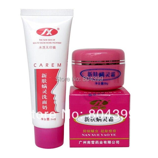 Hot atacado xin fu homem ling creme anti acne creme 20 g de pele de ervas anti acne e ácaro acne rosácea nariz vermelho