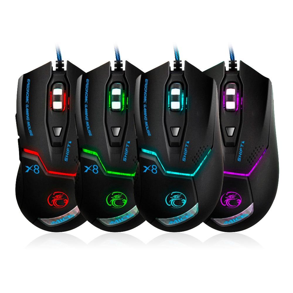 3200DPI 6 Button Wired Pro Gaming Mouse Optical Gamer Mouse + Hifi - Համակարգչային արտաքին սարքեր - Լուսանկար 6