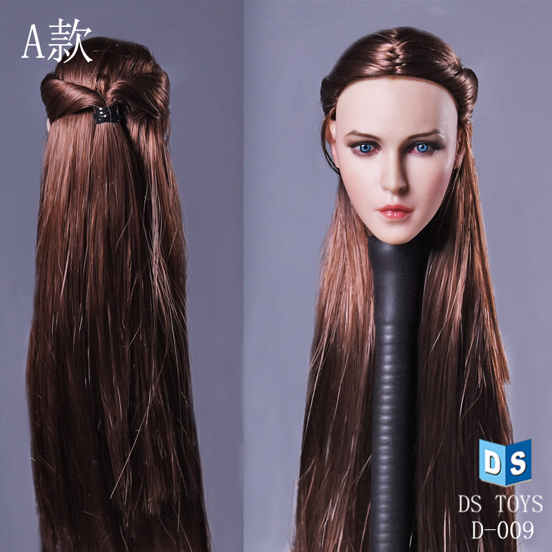 """1//6 Female Head Sculpt Long Hair B For 12/"""" Hot Toys Phicen Figure USA IN STOCK"""