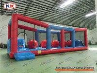 40 * 16.67ft большие надувные игра Wipeout, открытый Wipeout надувные игры, прочный надувные Wipeout шары препятствием игры
