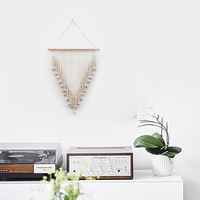 Witchcraft Macrame Wall Art Hand made Dyed Cotton Wall Hanging Tapestry and Lace Fabric Bohemia Tassel Boho Home Decoration