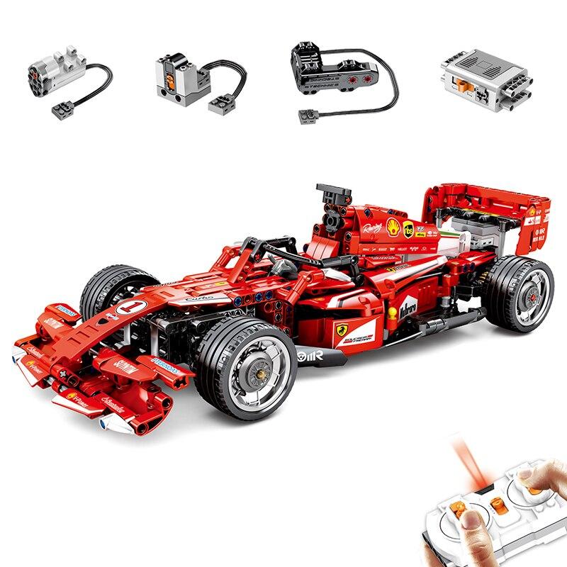 Technic F1 Racer RC blocs de construction de voiture de course adaptés à la technique de course Super Racer avec des briques de moteur jouets cadeaux pour enfants enfants