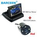 """Universal car cámara de parkin trae lente gran angular y 4 led + aparcamiento sistema saaist 4.3 """"lcd monitor de pantalla de coche durante la promoción"""