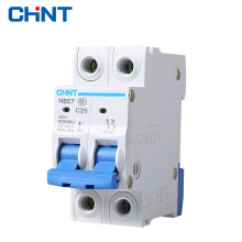 CHNT 2P 25A Miniature Circuit Breaker Household Type C Air Switch Moulded Case Circuit Breaker the melting of miniature circuit breaker household air ic45n 3p c25a air switch circuit breaker protection