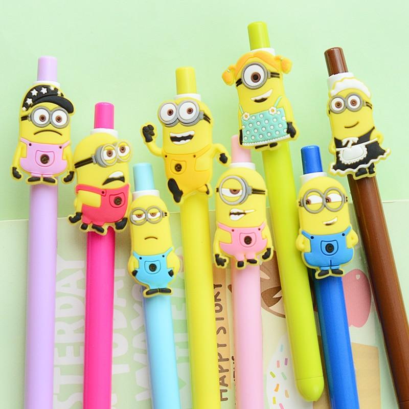 product 24 pcs/Lot Minions Gel pen Despicable Me ink pens zakka articulos de papeleria Canetas escolar material school supplies 6741