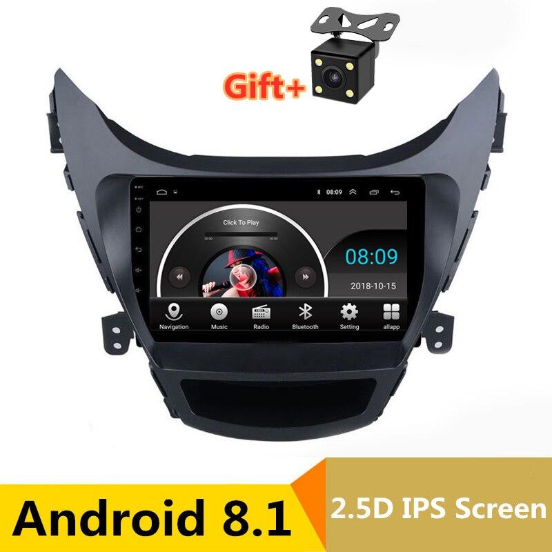 9 2.5D ips Android 8,1 Автомобильный мультимедийный dvd плеер gps для Hyundai Elantra MD Avante I35 2012 2016 аудио Радио стерео навигации