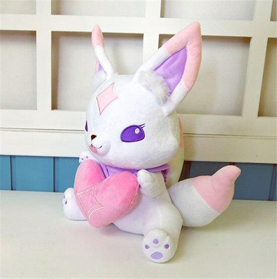 Star Guardian Ahri petit renard mignon Kiko mascotte Anime peluche et peluche poupée de dessin animé