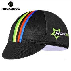 ROCKBROS Cycling Bike Headband Cap Bicycle Helmet Wear Cycling Equipment Hat For Men's Race Bike Multicolor Free Size Riding Cap