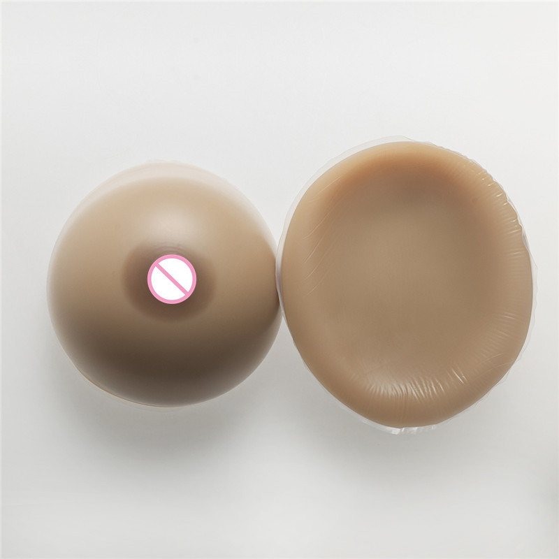 Buy Silicone Breast Forms Crossdresser Dress 3200g/Pair Brown Fake Boobs Transgender Drag Queen Large Silicone Tits Classic Round