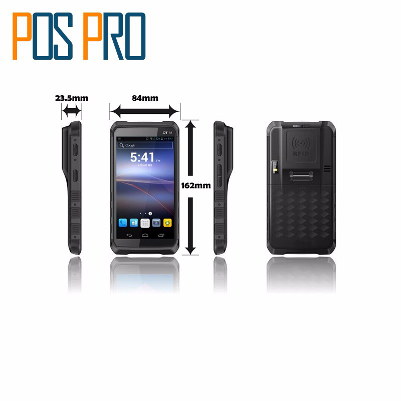 IPDA014 5.5 large screen 1d bluetooth android barcode scanner handheld pda terminal Support WI-FI bt 4g Waterproof