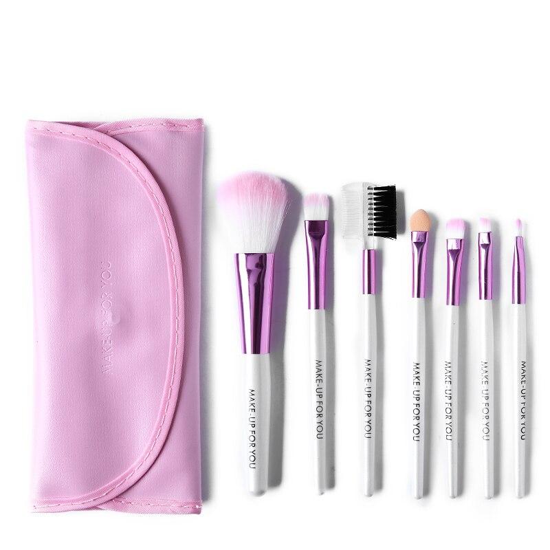9 цветов 7 шт./компл. Eyeshadow щетки для глаз бровей комплект щетки профессиональная косметическая инструмент туалетных комплект