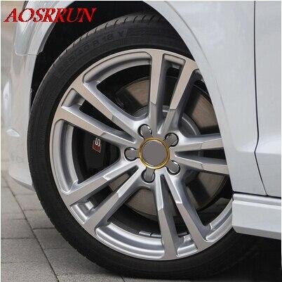 4 UNIDS Modificado círculo rueda cubierta de círculo brillante - Accesorios de interior de coche - foto 4