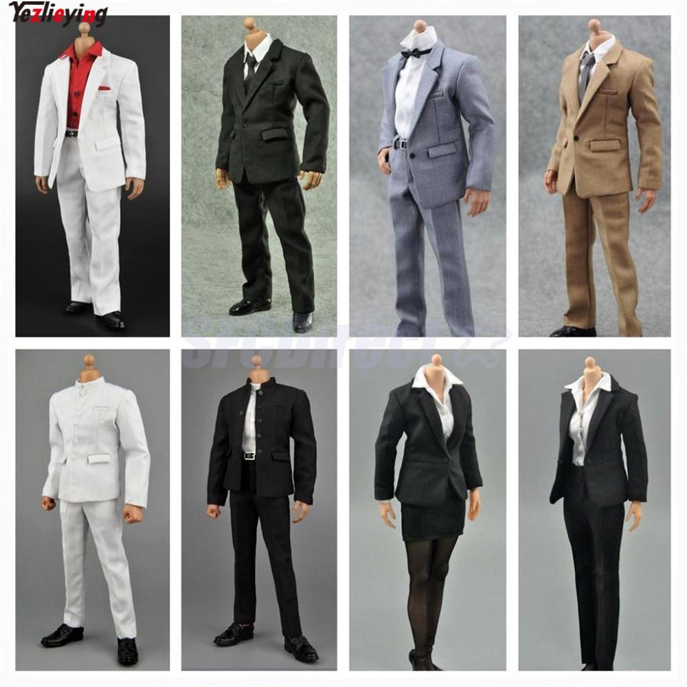 Zctoys 1:6 escala ropa Formal de carrera traje de negocios Fit 12 pulgadas falda masculina/Femenina figura de acción conjunto de accesorios de ropa