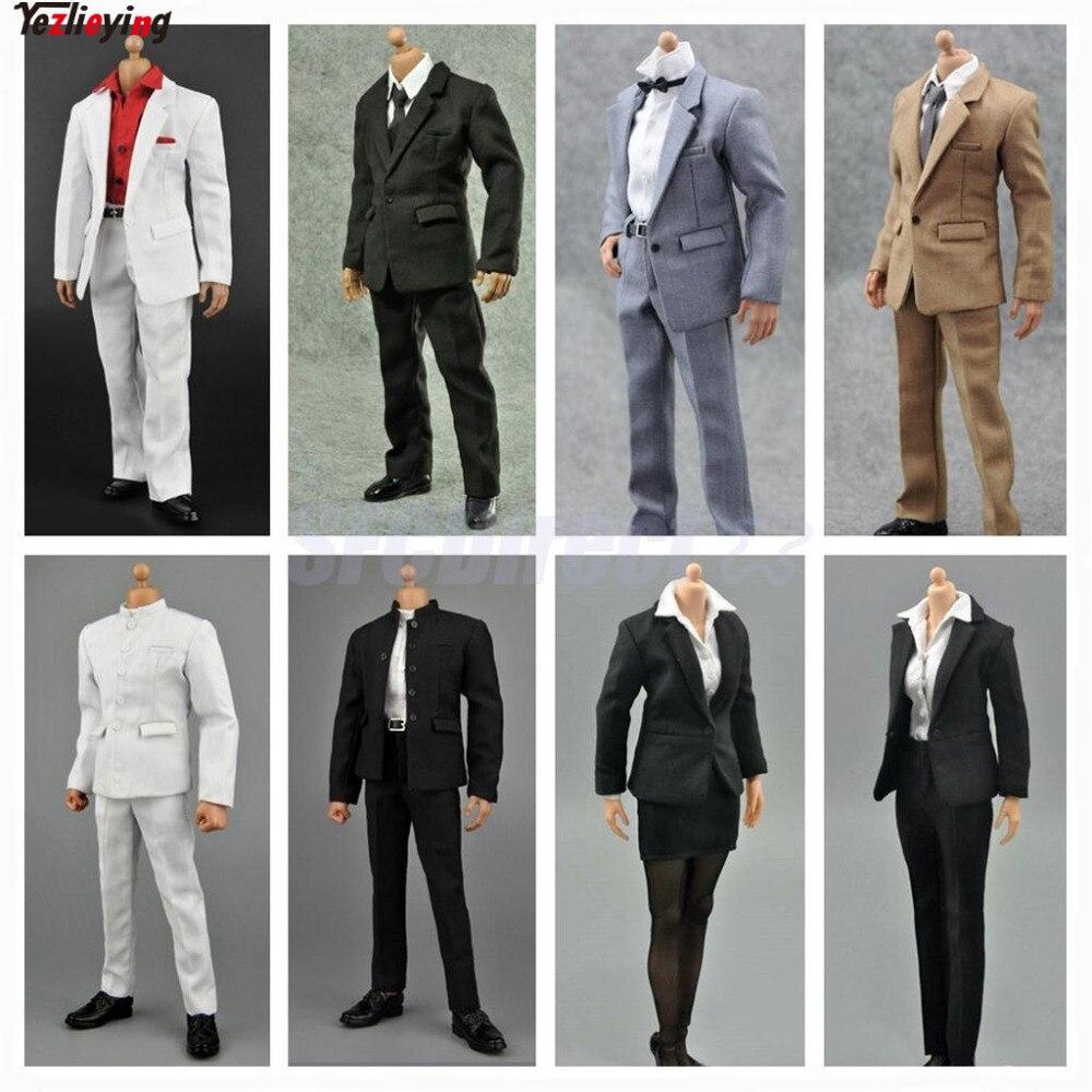 zctoys 1 6 escala carreira roupas formais terno negocio outfit 12 polegada masculino feminino conjunto saia