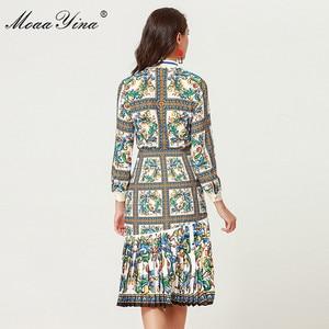 Image 5 - MoaaYina 2018 ensemble de créateurs de mode printemps femmes à manches longues Floral imprimé élégant Blouse + irrégulière sirène jupe deux pièces costume