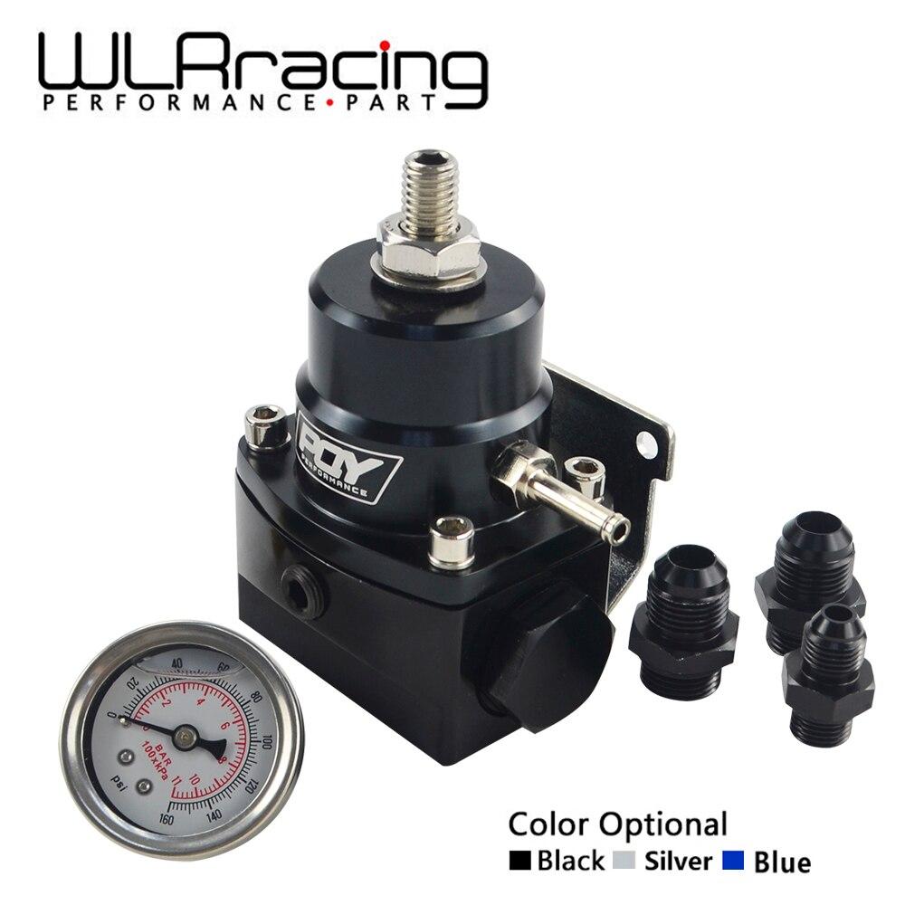 Wlr racing-an8 regulador de combustível de alta pressão com boost-8an 8/8/6 regulador de pressão de combustível efi com calibre wlr7855