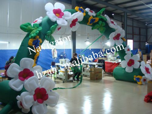 Hot Sale Inflatable Flowers Arch for Wedding Decoration r077 20ft double layer air inflatable arch tent inflatable event arch inflatable arch inflatable start finish line arch