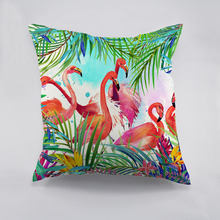 Colorful Flamingo Printed polyester Cushion Cover Creative Decorative Chirsmas Theme Pillow Case For Car Home Sofa