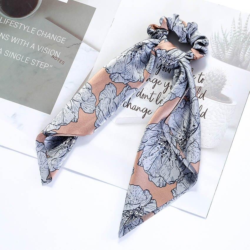 Levao fleur impression cheveux écharpe arc chouchous queue de cheval bandeau pour femmes cheveux accessoires nœud papillon élastique cheveux corde bandeaux 23