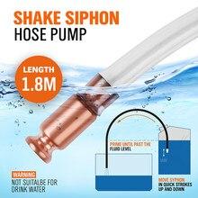Tuyau de pompe à eau et à essence 1.8m(6ft), tuyau d'amorçage de sécurité et Valve de 1/2 pouces, mamelon en cuivre