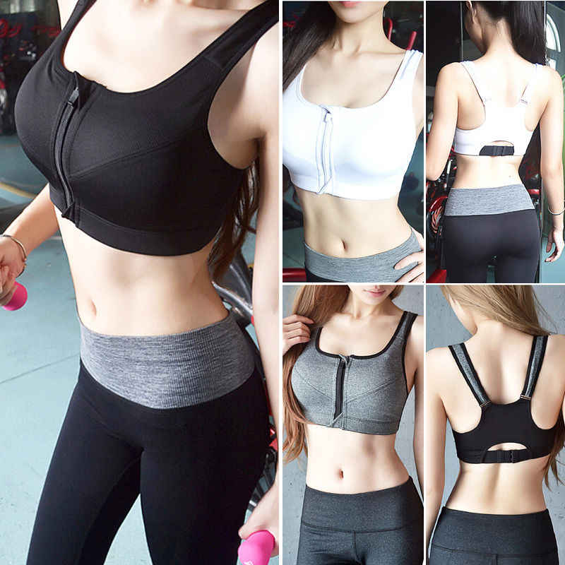ae564e10ce45f ... 7 Color Fitness Yoga Push Up Sports Bra Women Gym Running Padded Tank  Top Athletic Vest ...