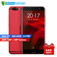 Ulefone Gemini Pro Double Caméra Smartphone 5.5 pouce FHD MTK6797 Deca Core Android 7.1 4 GB + 64 GB D'empreintes Digitales ID 4G mobile téléphone