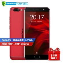Ulefone Gemini Pro Dual Rear Cameras Smartphone 5.5 inch FHD MTK6797 Deca Core Android 7.1 4GB+64GB 13MP Fingerprint ID 4G LTE