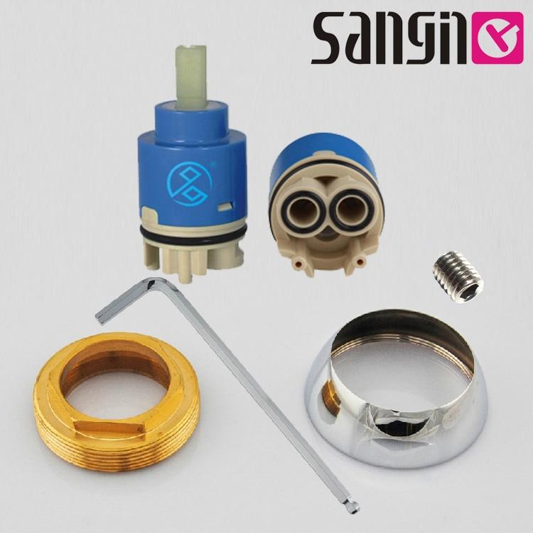 35mm Ceramic Cartridge Basin kitchen faucet pressure spool of copper ...