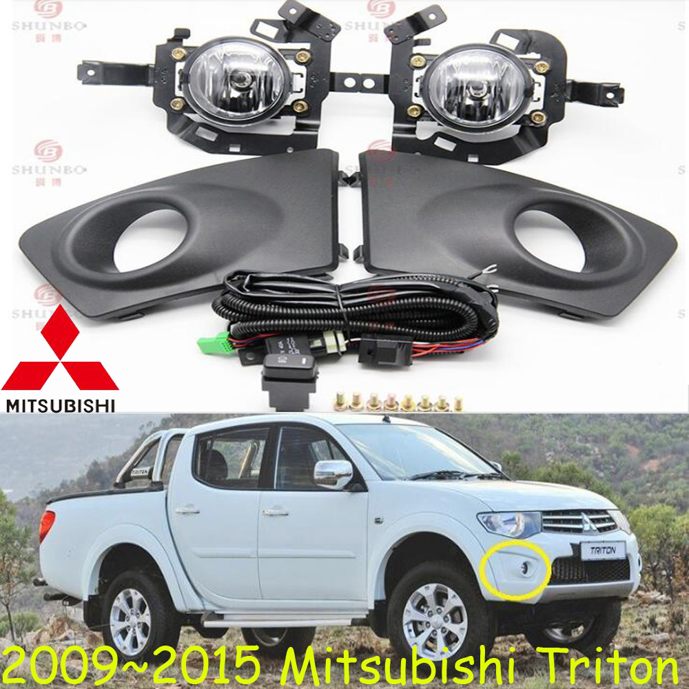 car-styling,Triton halogen light,2009~2014/2015~2017,Free ship!2pcs/set,Triton fog light;car-covers,Triton headlight,Triton