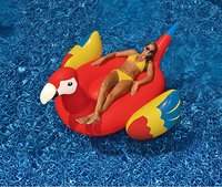 220cm Giant Inflatable Parrot Women Pool Float 2018 Newest Water Lounger Beach Party Fun Toys Swimming Ring Floats boia piscina