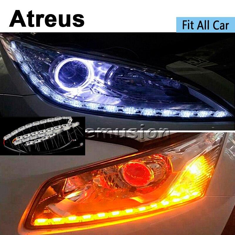 Atreus 2X LED de voiture lampe à eau en cristal DRL pour bmw e46 e39 ford focus 2 vw toyota mazda 3 6 mercedes obd2 skoda Citroen c4 c5 c3