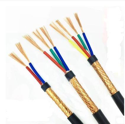 Free shipping2METERS Pure copper/RVVP/shielded wire/control <font><b>cable</b></font> /2/3/4/5 core /0.3/0.5/<font><b>0.75</b></font>/1/1.5/2.5MM2 square signal wire image
