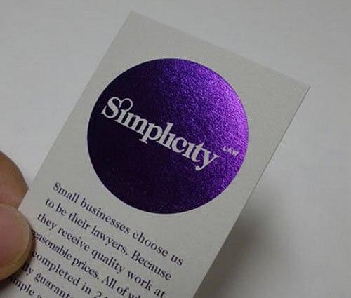 Mode Schönheit Benutzerdefinierte Weiße Karte Papier
