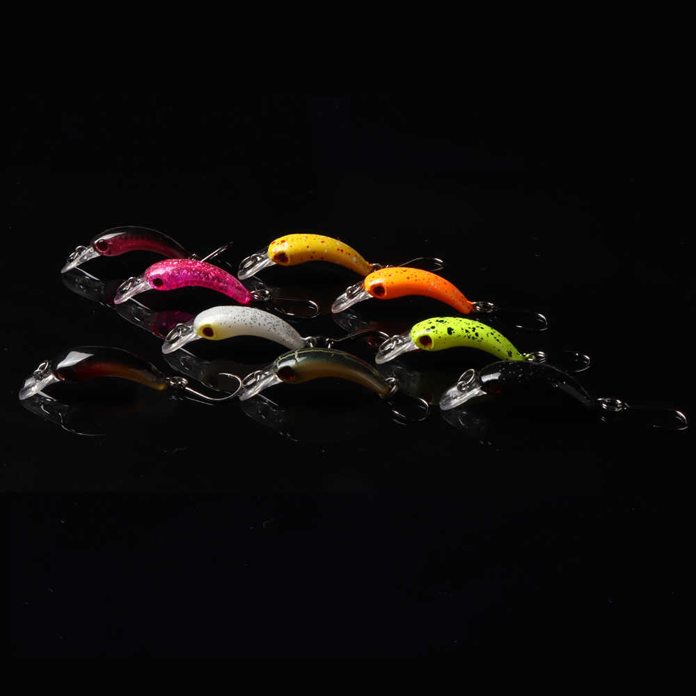 Trucha señuelo de pesca para UL pesca Mini Crankbait arroz Wobbler pesca señuelo para agua dulce Minnow manivela Artificial cebo duro