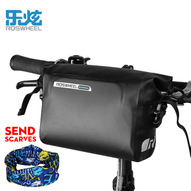 Roswheel Full Waterproof MTB Bike Handlebar Bag Cycling Bicycle Front Bags Bycicle Accessories 3L