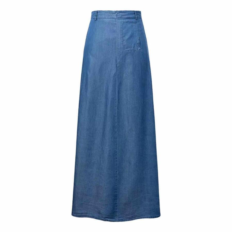 3c4bff1dd1 Denim Jeans Maxi Skirt